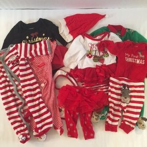 Other - Bundle of baby girl's first Christmas clothes